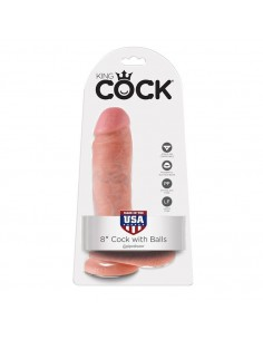 Dildo z modi King Cock 8, 20cm