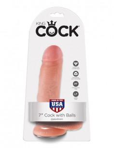 Dildo z modi King Cock 7, 18cm