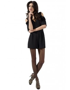 Hlačne nogavice Passion TI002 črne