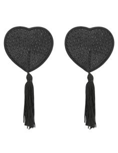Klobučki za bradavičke Coquette Heart črni