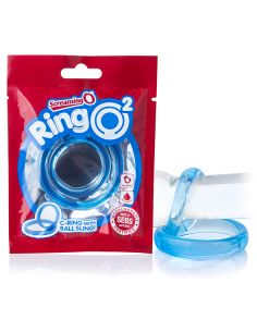 Erekcijski obroček ScreamingO RingO 2 moder