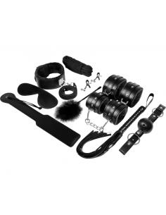 Komplet BDSM pripomočkov Experience, črn