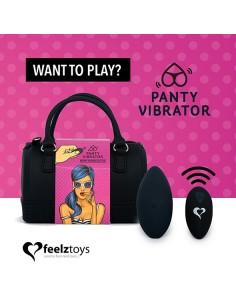Vibrator Feelztoys Panty-vibe črn