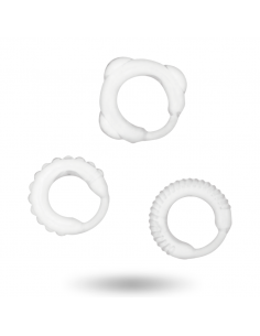 Komplet erekcijski obročkov Addicted Toys C-ring, prozoren