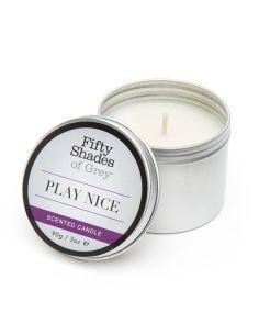 Masažna sveča Fifty Shades Of Grey Play Nice Vanilija, 90g