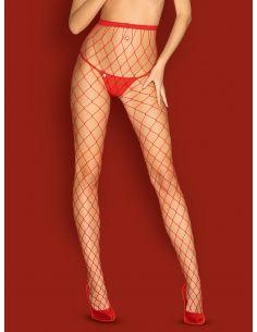 Hlačne nogavice Obsessive S812, rdeče