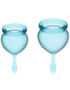Komplet menstrualnih skodelic Satisfyer Feel Good, svetlo moder