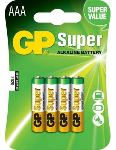 Baterije GP LR03 (AAA) Super alkalne (4 kosi)