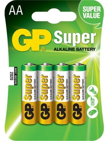 Baterije GP LR06 (AA) Super alkalne (4 kosi)